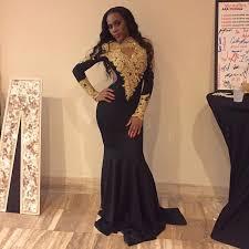 african high neck black mermaid prom dresses 2017 sweep