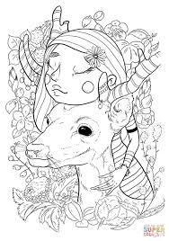 a with deer coloring page free printable coloring pages