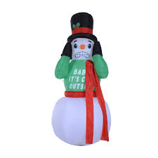 7 u0027 shivering shaking animated snowman led lighted outdoor air