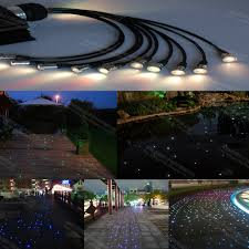 Underwater Landscape Lighting by Supper Brightness 14mm End Glow Soft Cable Fiber Optic Lights For