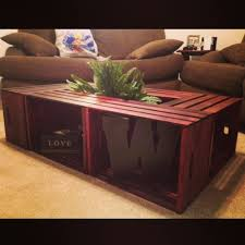 Diy Wood Crate Coffee Table by 54 Best Wooden Crate Idea U0027s Images On Pinterest Home Projects