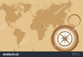 Old Map Background Old Compass On Old Map Background Stock Vector 90707110 Shutterstock