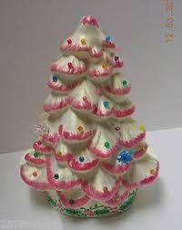 ceramic christmas wreath light kitsch holiday decor by