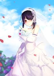 wedding dress anime hair anime anime wedding dress