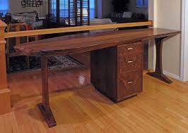 live edge computer desk tables corbin woodworks llc