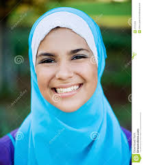 beautiful muslim teen wearing hijab stock photos image