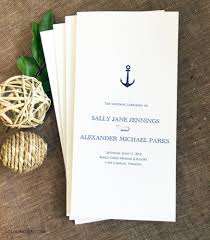 Sample Wedding Program Anchor Wedding Program Sample Wedding Invitations By Lolo Lincoln