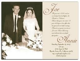 60th wedding anniversary invitations 50th wedding anniversary invitations gangcraft net