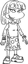 angelica pickles rugrats grown coloring pages wecoloringpage