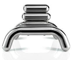 original design armchair stainless steel bibendum by toni