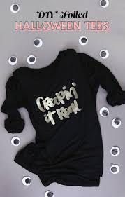 diy custom foil shirts with free halloween cut files persia lou
