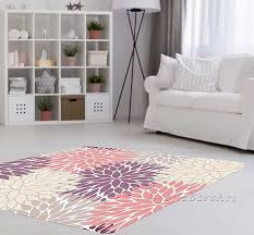 4 X 5 Kitchen Rug Pink Purple Rug Area Rug Dahlia Rug Beige Gray Rug Baby