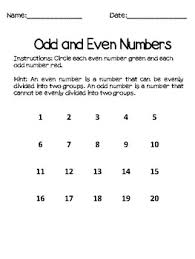 even and odd math worksheets and story by summer night teacher tpt