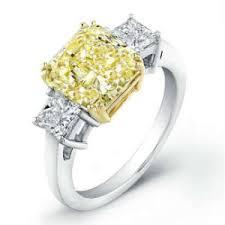 yellow engagement rings yellow diamond engagement ring