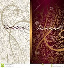 Invitation Cards Download Beautiful Floral Invitation Cards For Design Royalty Free Stock
