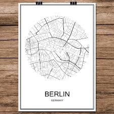 Brussels Germany Map Online Shop Famous World City Street Map Brussels Belgium Print
