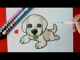how to draw a cute puppy easy youtube