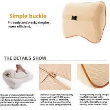 Cushion Sponge Material Useful Car Seat Lumbar Support Neck Pillow Memory Foam Back