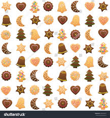 christmas cookies variety pattern isolated vector stock vector