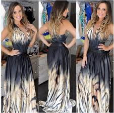 dress clubwear floor length dress black dress ombre tie dye