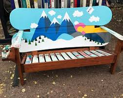 Snowboard Bench Legs Snowboard Furniture Etsy