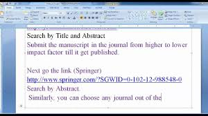how to write a scientific research paper best journal for your research article paper elsevier springer best journal for your research article paper elsevier springer and ieee youtube