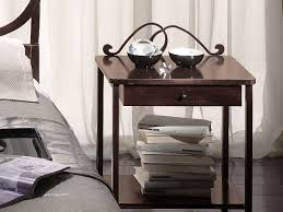 Stainless Steel Nightstand Bedrooms Classic Bedroom With Brown Wrought Iron Bed And Brown