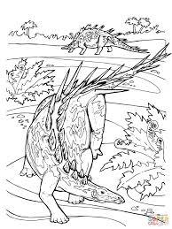 kentrosaurus stegosaurid jurassic dinosaur coloring page free