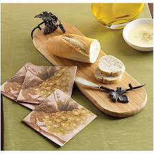 mud pie cheese board cheese board grapevine baguette board spreader and napkin set of 3