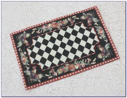 Checkered Area Rug Black And White by Black And White Bathroom Rugs Better Trends Chenille Rocks Bath