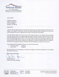 Business Letter Thank You For Your Support by Interval House Of Ottawa U2013 A Letter Of Hope Womens Expressions