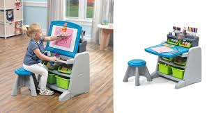 flip and doodle desk kohl s 35 99 step2 flip doodle easel desk stool 100 value