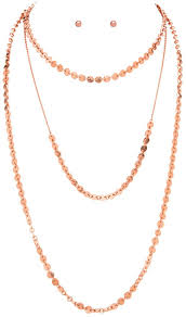 gold chain necklace wholesale images Rose gold chain linked disc layer necklace set wholesale n1242r jpg
