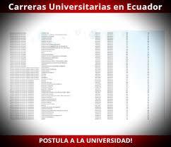 lista blanca sri ecuador lista de nuevas carreras universitarias en ecuador ser bachiller