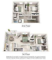 The Villages Floor Plans One Two And Three Bedroom Apartments In Spring Hill Tn