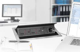 desk power outlet evoline schulte electro systems for power and data