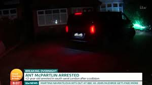 test crash siege auto ant mcpartlin is arrested by after drink drive crash
