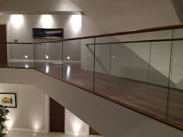 Glass Banister Uk Timber Handrail On Glass Balustrade Haldane