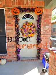hmhddesigns blog halloween deco mesh door garland