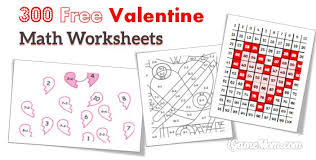 free valentine math worksheets free worksheets library download