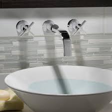 Wall Mounted Bathroom Sink Faucets Berwick Wall Mounted Bathroom Faucet Cross Handles American