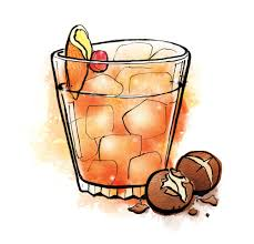 old fashioned cocktail illustration christmas cocktail illustrations u2014 lisa maltby illustrator