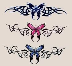 3 butterfly tattoo style tramp stamp vinyl r c tablet stickers