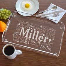 personalized tray personalized serving trays personalized platters gifts for you now
