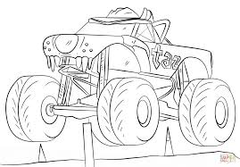 taz monster truck coloring page free printable coloring pages