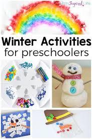winter theme activities for preschoolers