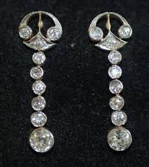 original diamond drop original 2 84ct miner diamond drop dangle chandelier earrings