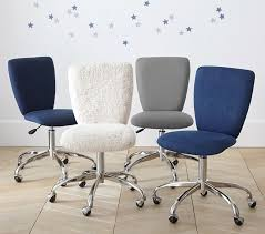 square upholstered desk chair brushed nickel base pottery barn kids
