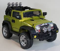 green jeep wrangler ride on car jeep wrangler style remote control 12volts battery