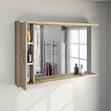 sienna oak bathroom mirror with lights 1200mm victoriaplum com